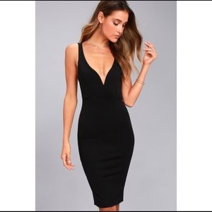 Lulus • Gracefully Yours Dress in Black • XS